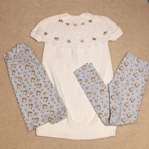Gymboree dress, shirt and leggings bundle size 7-8